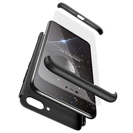 Ququcheng Funda Xiaomi Mi 8 Lite,Carcasa Xiaomi Mi 8 Lite[con Protector de Pantalla] 3 en 1 Desmontable 360°Protection Case Ultra-Delgado Cover Caso ...