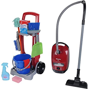 Theo Klein Toy Cleaning Trolley Miele Vacuum Combo By TOY