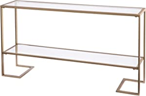 Southern Enterprises Horten Glam Narrow Console Table, gold