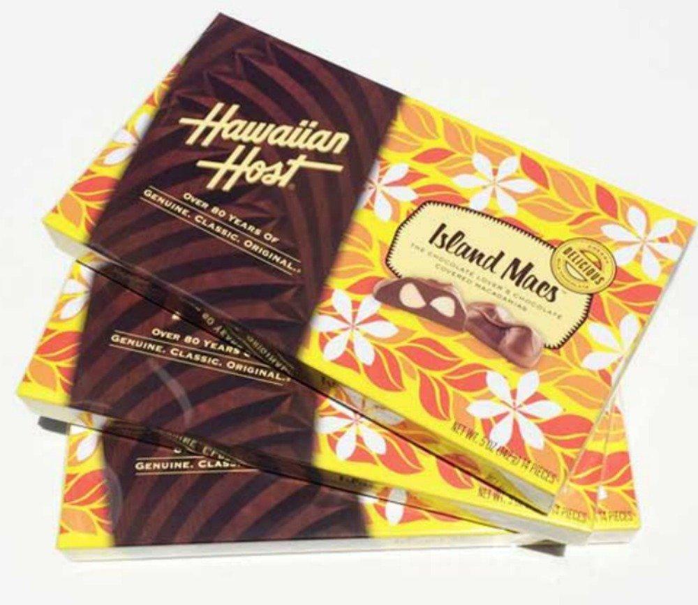 Hawaiian Host Island Macs Tiare Milk Chocolate Covered Macadamia Nuts 5 oz Boxes (3 Boxes)