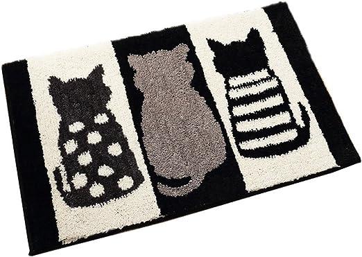 Cats Doormat Cartoon Rubber Anti-slip Floor Mat Carpet Entrance Indoor Bathroom