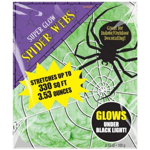 Green Polyester Spider Webs -