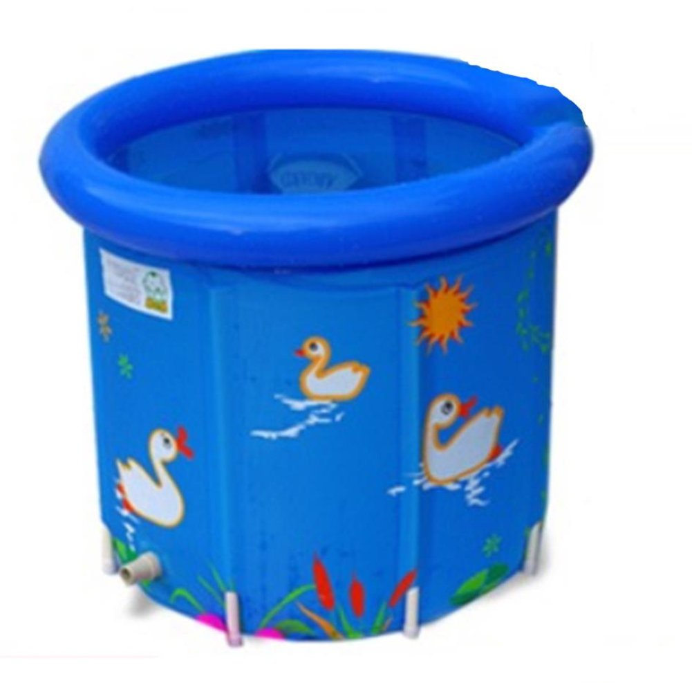 Inflatable Bathtub Plastic Thick Insulation Pvc Household Inflatable Folding Portable Shower Tub Adult Bathtub Outdoor Swimming Pool/Blue