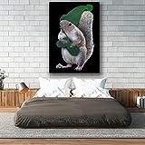 Green Squirrel Hat Nut Dwarf Matte/Glossy Poster A4 (9x12 inches) | Wellcoda
