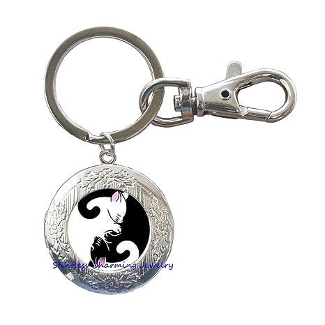 Amazon.com: Yin Yang – Llavero de gato, joyería para perros ...