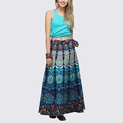 Mujer Vestido Ropa Falda ♡♡Fanny Funny♡ Halter Floral Elásticas Multicolor Ocasional Impresión Falda Suelta Boho Largo Playa Sexy Cintura Una Pieza: ...