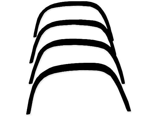 RNS 978 Negro Mate, Fender tapacubos extensiones, rueda arcos, para óxido