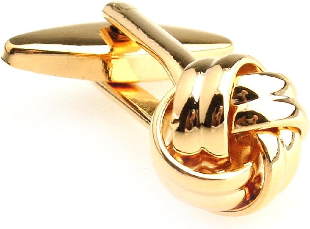 MRCUFF Knot Pair Cufflinks in a Presentation Gift Box & Polishing Cloth