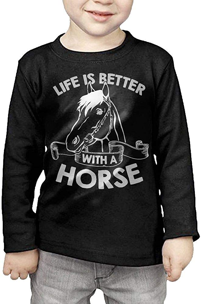 Childrens Life is Better A Horse-1 ComfortSoft Long Sleeve Shirt