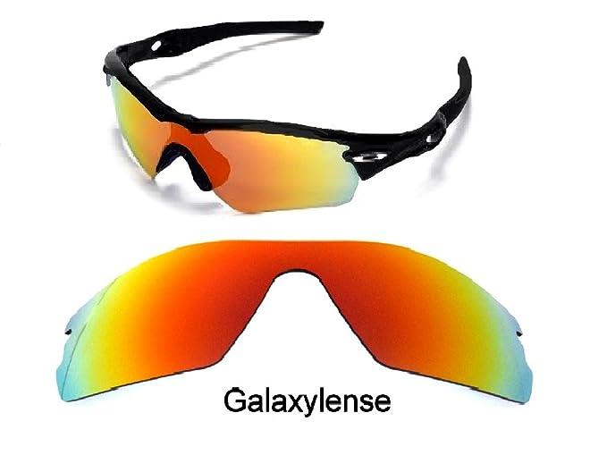 Galaxy Lentes De Repuesto Para Oakley Radar Path GAFAS DE SOL ROJO - Rojo, Regular