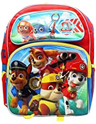 Red Yellow and Blue Paw Patrol Large 16 inches Backpack New