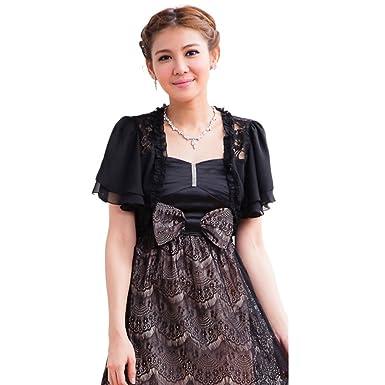 4948b8e64650ae {ツネユウ}ドレス 半袖ボレロ 大きいサイズ有 パーティボレロ パーティボレロ 結婚式 ジャケット
