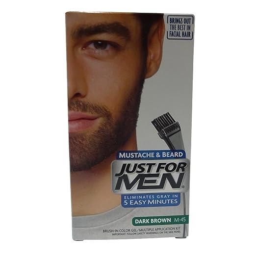 Amazon.com : JUST FOR MEN Color Gel Mustache & Beard M-45, Dark ...