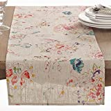 Fennco Styles Primavera Collection Printed Floral Design Table Runner - 16'' X 72''