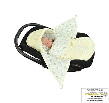 MoMika Babyfu/ßsack Baby Fu/ßsack Babyschale Kuschelsack Babydecke Kinderwagen aus Baumwolle Zickzack Cream
