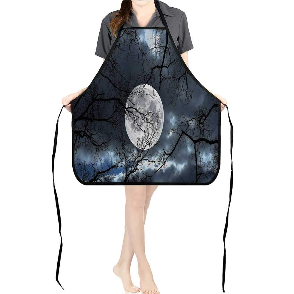 Jiahong Pan Apron Men Women for Kitchen Full Mo Night in The Forest Winter Time Mystical Dramatic Luna Cooking,Chef,BBQ, and Grill ApronK26.6xG27.6xB10.2 by Jiahong Pan