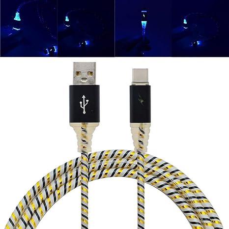 hunpta LED luces, cable tipo C USB 3.1 Cable de ...