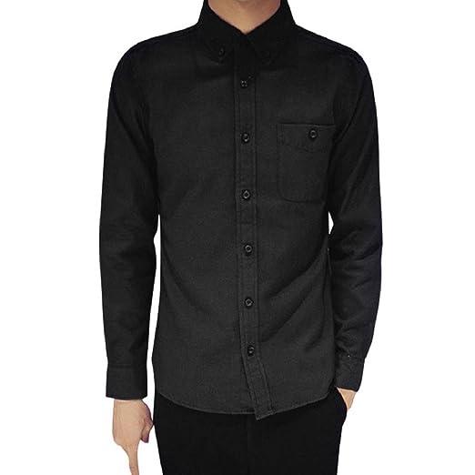 98847099653 Men s Dress Shirt Long Sleeve Oxford Shirts Slim Fit Button Down Collar  Shirts (S
