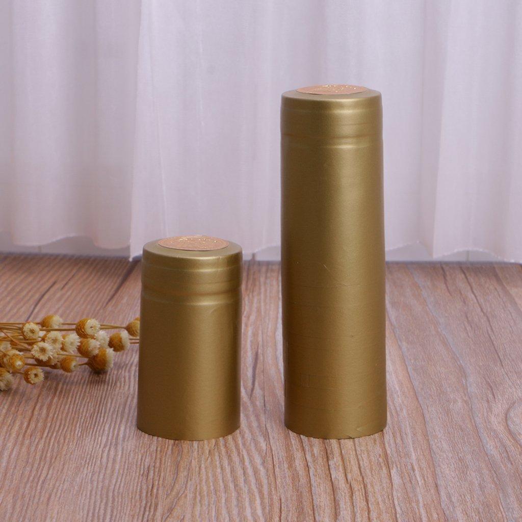 GROOMY 10 Piezas Botella de Vino Cápsulas Termoencogibles Homebrew Tapa Superior Línea Suelta Peeling Easy - Oro: Amazon.es: Hogar