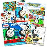 Thomas the Train Paint With Water Super Set Kids Toddlers -- 2 Giant Thomas Mess Free Coloring and Activity Books (Includes Over 250 Stickers and Paint Brush)