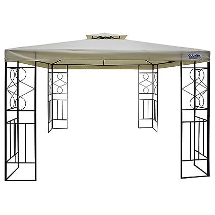Amazoncom Quictent 10 x 10 Metal Gazebo Pergola Canopy Heavy Duty
