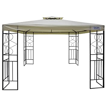 Quictent 10u0027 x 10u0027 Metal Gazebo Patio Gazebo Canopy Waterproof Backyard Shelter (Beige  sc 1 st  Amazon.com & Amazon.com : Quictent 10u0027 x 10u0027 Metal Gazebo Patio Gazebo Canopy ...
