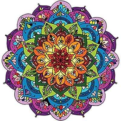 "Divine Designs Pretty Rainbow Mandala Flower Vinyl Decal Sticker (4"" Wide): Automotive"