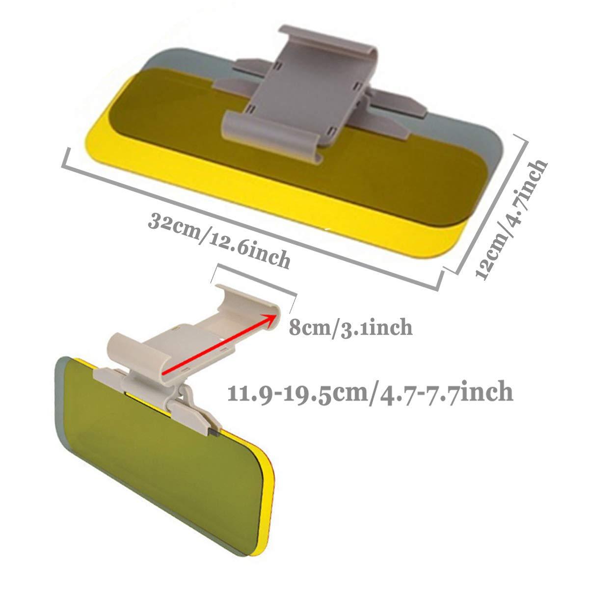 Ansblue Anti-Glare Car Visor,2 in 1 Automobile Sun Anti-UV Block Visor Non Glare Anti-Dazzle Sunshade Mirror Goggles Shield for Driving Goggles Car visor