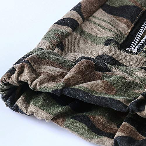 Spbamboo Mens Camouflage Fold Pocket Slim Fit Casual Sport Overall Trouser Pants by Spbamboo (Image #5)