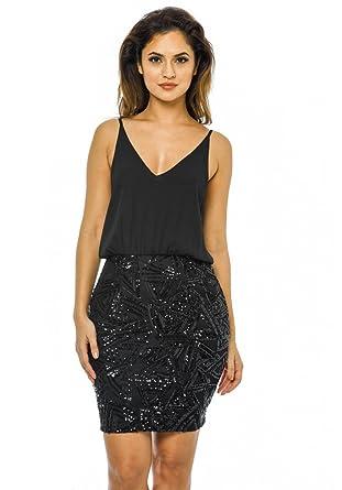 301f7df69e3 AX Paris Women s 2 in 1 Dress at Amazon Women s Clothing store