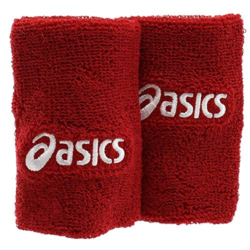 ASICS Wristbands, Red, One Size from ASICS