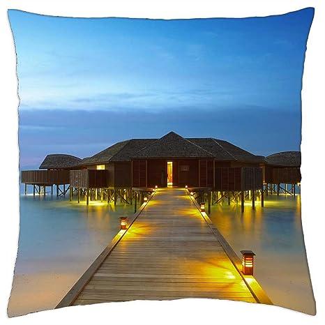 Funda de almohada de diseño de casetas de playa – Manta (18