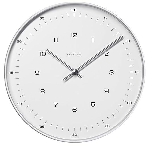 Junghans 367604700 - Reloj analógico de pared (30 cm) y mecanismo de cuarzo: Amazon.es: Relojes