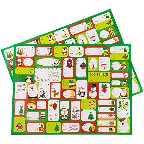 (JAM Paper to/from Christmas Gift Tag Stickers - North Pole Christmas - 100/Pack)