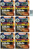 GlLLETTE Fusion Proglide Power Refill Cartridge Blades, 48 Count (6 Packs of 8) (Made in Germany) w/ Free Loving Care Trial Size Conditioner