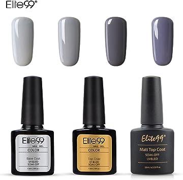 Elite99 Esmalte Semipermanente UV LED 7pcs Kit Uñas de Gel ...