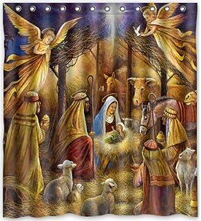 66x72 Inches Christmas Nativity Holy Family Tree Three