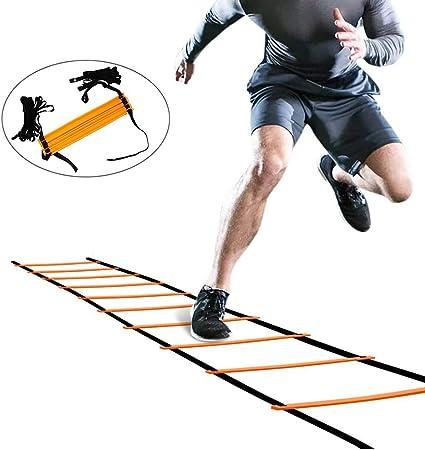 SHDT Escalera Velocidad De Entrenamiento De La Agilidad con Bolsa De Transporte, Equipo De Más Rápido Juego De Piernas Y Movimiento Habilidades - Formación para La Aptitud Pies,20M 40Rungs: Amazon.es: Hogar