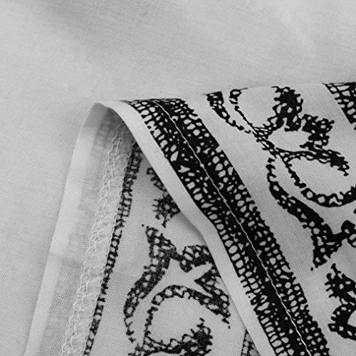 VENMO Mujeres Sin Mangas Impresa Casual Verano Playa Mini Vestido Blanco