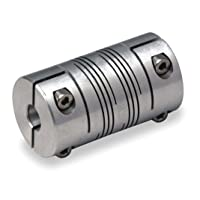 Coupling, Double Beam, Bore 1/2x5/8 In