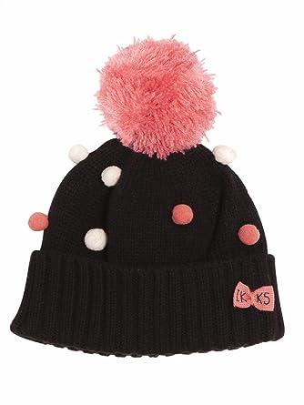 d808a63661fae IKKS bonnet pompon noir fille 49cm: Amazon.fr: Vêtements et accessoires