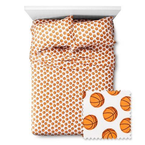 Basketball Sheet Set - Pillowfort (Queen ) - Basketball Bedding