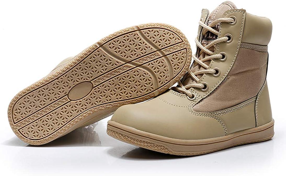 Yuanu Botas De Senderismo para Hombre Botas T/ácticas Impermeable Suela De Goma Cremallera Zapatos Altos Oto/ño Invierno Casual Trekking Desierto Masculino Calzado