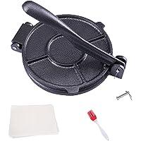 KNGKILQN Corn Tortilla Press Maker - 8 Inch Tortilla Maker Roti Maker Cast Iron Flour Press with FREE 50 Pieces Oil…