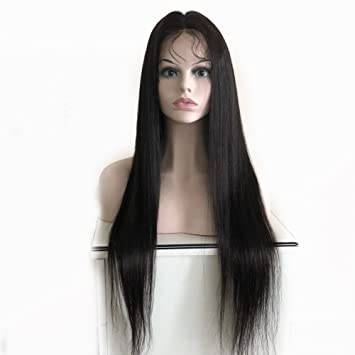 Amazon Com Forawme Long Front Lace Wigs For Women Human Hair 26