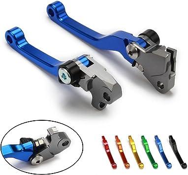 Billet Pivot Klappbare Kupplung Bremshebel Dirt Bike Für Yamaha Yz125 Yz250 15 17 Yz250x 16 17 Yz250f Yzf250 Yz426f Yzf426 Yz450f Yzf450 09 17 Motorrad Blau Auto