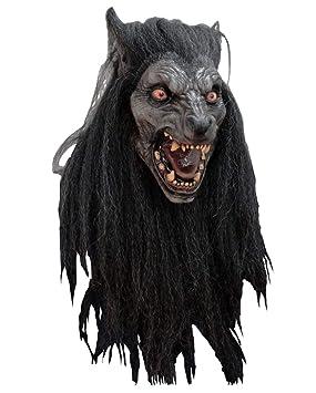 Horror-Shop Máscara negro Luna del hombre lobo: Amazon.es: Juguetes y juegos