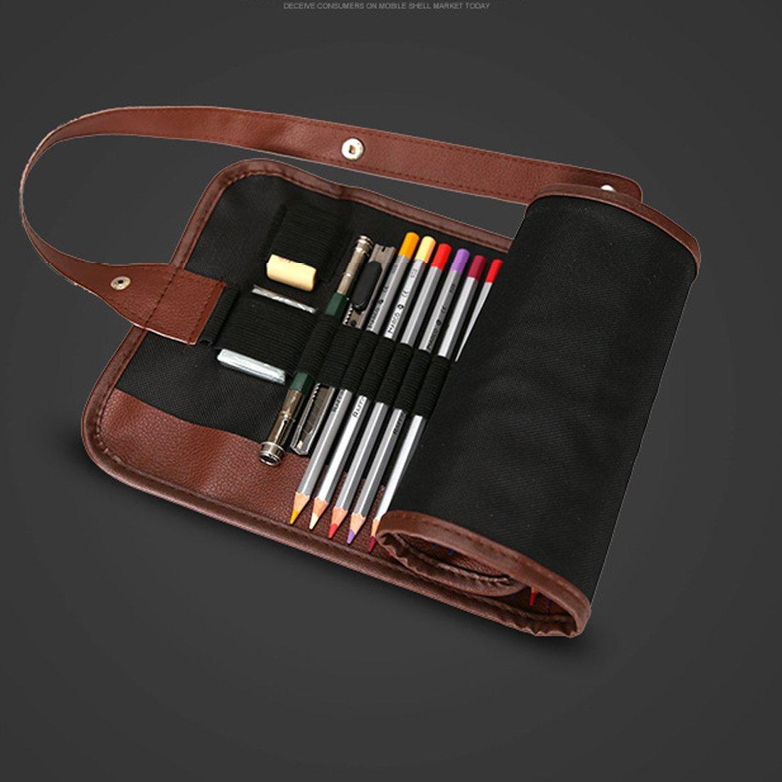 les amateurs dart et de coloriage 48 ou 72/crayons 72 Trousse roul/ée Marco Portable Pour les artistes Pour 36 En toile