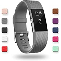 POY Bands Compatible for Fitbit Charge 2, Adjustable Breathable Wristbands with Air Holes Straps