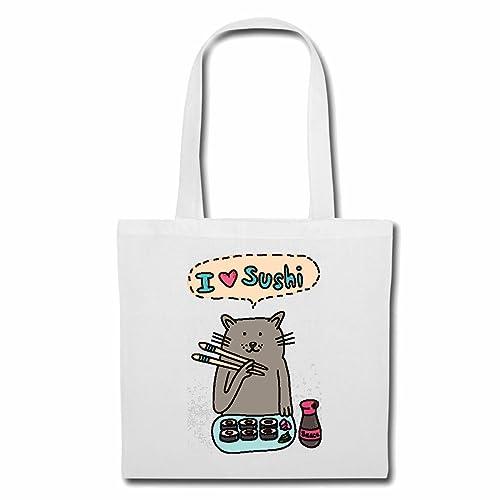 Bolsillo Bolso Bolsa AMO CAT SUSHI CON LOS DEDOS EN SUSHI ...